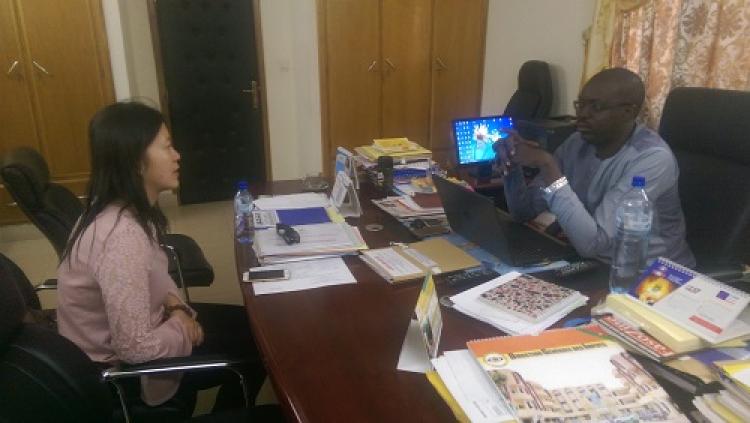 Partenariat: visite d'un responsable de Startimes Group Startimes Software Technology chez le DG du FAPP